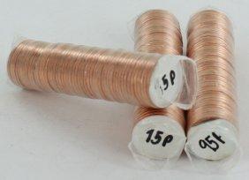 1995 Linc 1c Bu Scarce Unopened Bank 3 Rolls Of 50