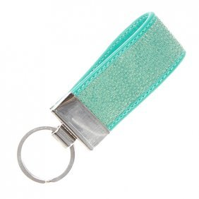 Green Stingray Hide Key Chains