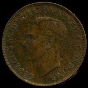 1939m Australia Large Penny Hi Grade Au+ Bv $30