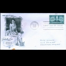 1948 Us First Day Postal Cover