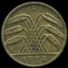 1924f Germany 10pf Unc