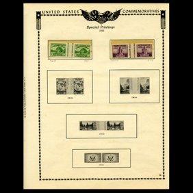 1935 Us Stamp Album Page 4pcs