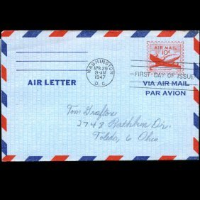 1947 Us First Day Postal Stationary Postal Cover