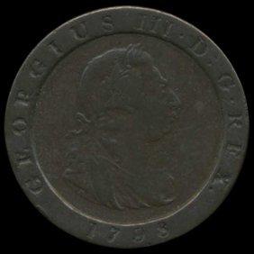 1798 Great Britain George 3 Farthing Pattern Xf