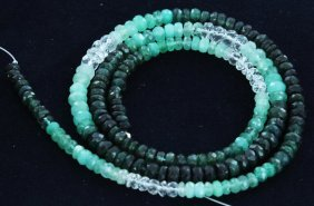 44.5ct Zambian Emerald Faceted Bead Strand