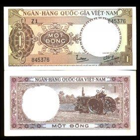 1962 Vietnam 1 Dong Gem Crisp Uncirculated Note