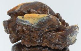 1155ct Natural Boulder Opal Carved Fish