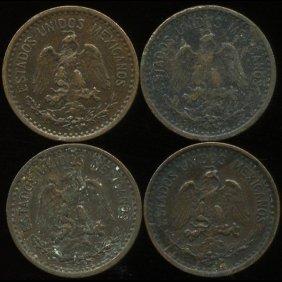 1906 Mexico 1c Vf/xf 4pcs
