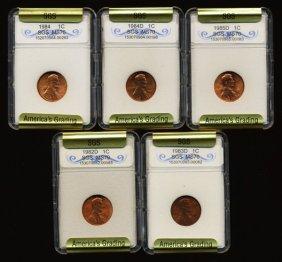 1979-82 Lincoln Cent Set Graded Gems