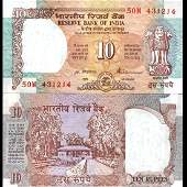 1992 India 10 Rupee GEM Crisp Uncirculated