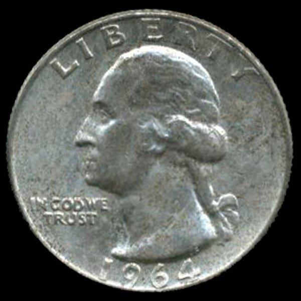 1964 Silver GW 25c Super Gem GEM+ Unc
