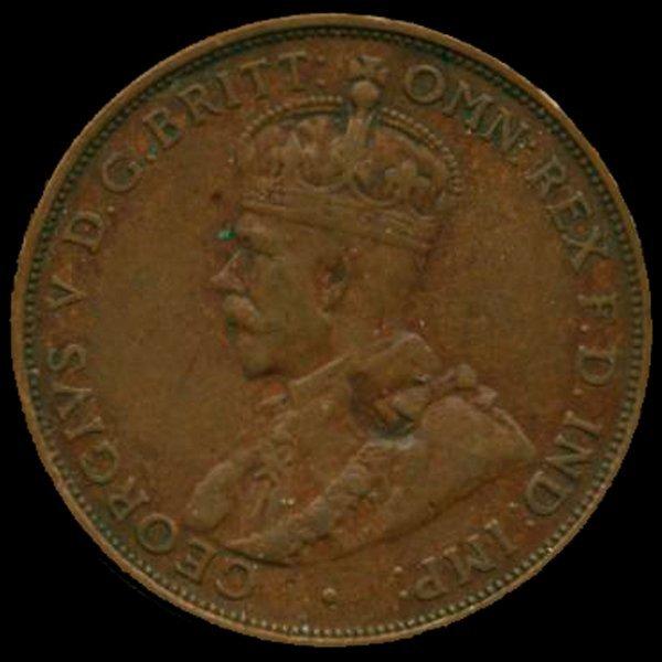 1931M Australia Large Penny Hi Grade XF BV high book