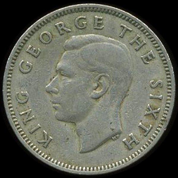 1948 New Zealand Shilling VF/XF