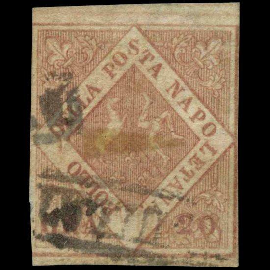 1858 Naples 20g Stamp