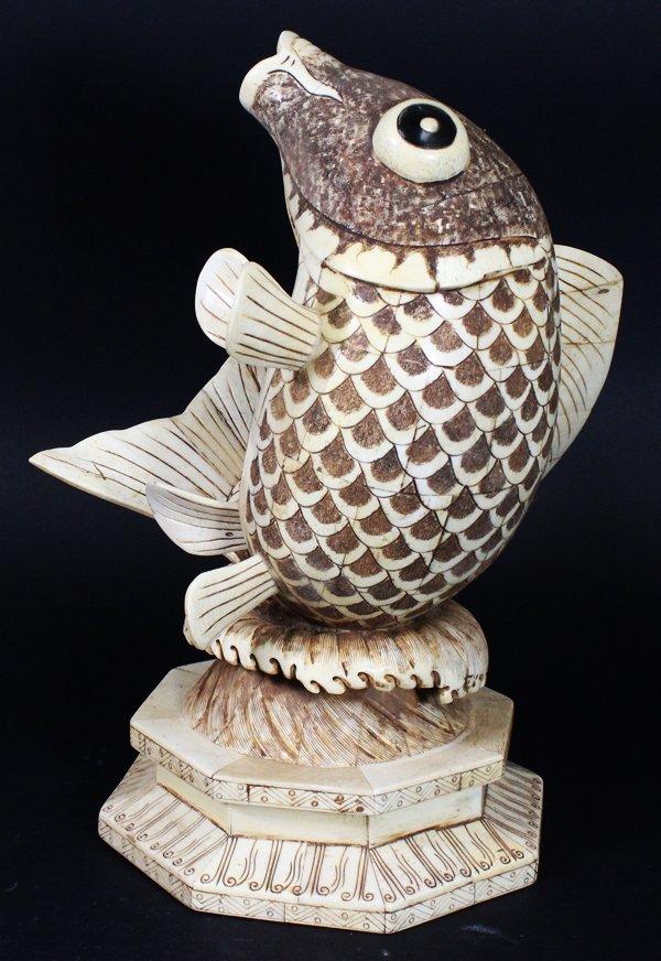 Chinese Handcarved Bone Fish