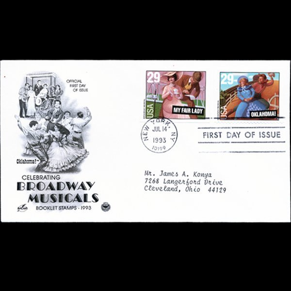 1993 US First Day Postal Cover Pair