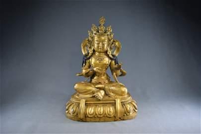 A Gilt Bronze Buddha Figure Statue