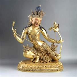 A Gilt bronze Statue of buddha