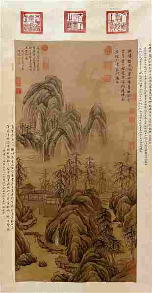 A Chinese Landscape Painting, Tang Yin Mark