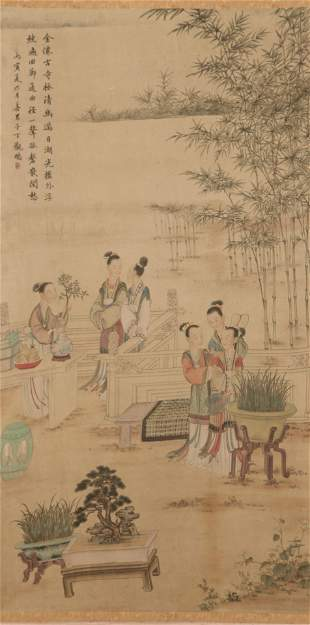 A Chinese Figures Painting Scroll