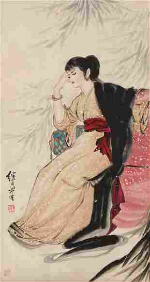 A Chinese Figure Painting Scroll