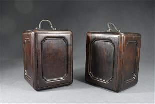 A Group of Two Wood Boxes