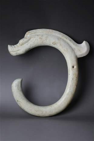 A HongShan Jade C Shape Dragon