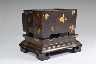 A Gilt Inlay Bronze Incense Burner Set