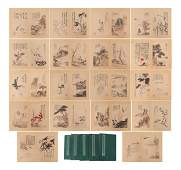 A GROUP OF FIVE CHINESE PAINTING ALBUM BOOKS
