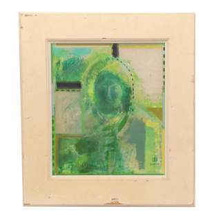 A FRAMED CHINESE FIGURE PAINTING