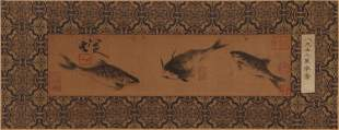 A CHINESE PAINTING OF THREE FISHES
