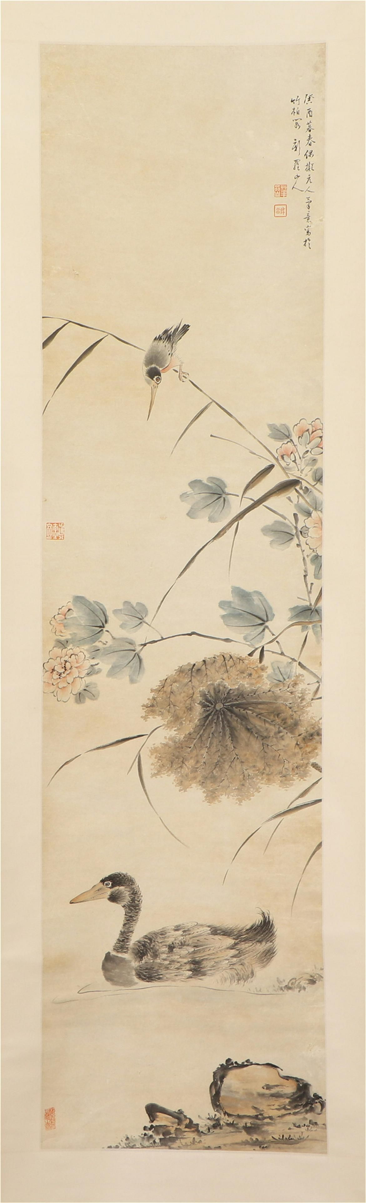 A Chinese Painting Hanging-scroll of Water Bird