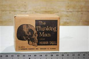 VANTAGE 50'S THE THINKING MAN LIFE SIZE HUMAN SKULL