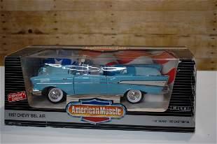 American Muscle LITE BLUE  1957 CHEVROLET BEL AIR