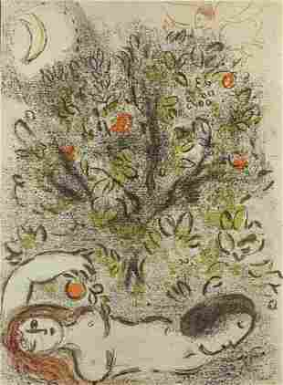Marc Chagall   lithograph   The tree of knowledge