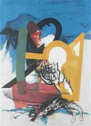 J. Diederen (1920-2009)   lithograph   Abstract