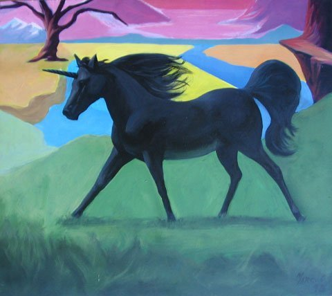 6: Painting Provincetown Fantasy Unicorn