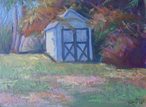 11: Painting, Provincetown Shed Landscape