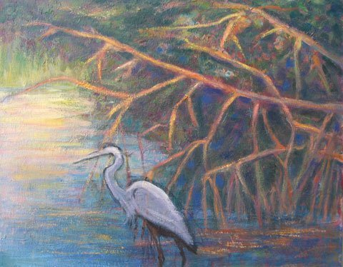 18: Painting Landscape with Bird