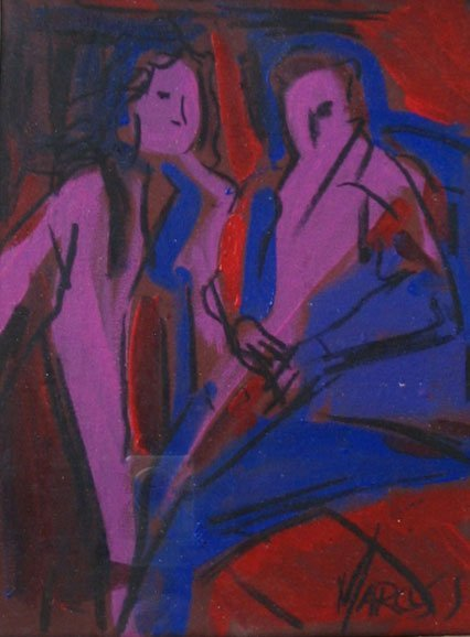 22: Painting Abstract Couple Provincetown