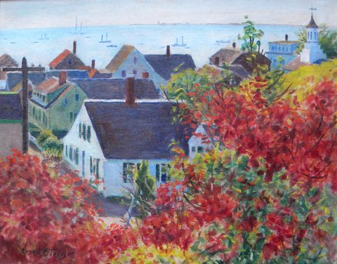3: Ernest E. Perry, Untitled Townscape (Provincetown fr