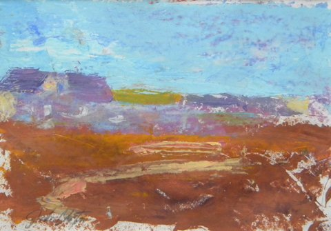 13: John  Clayton, Untitled Home and Landscape, oil on