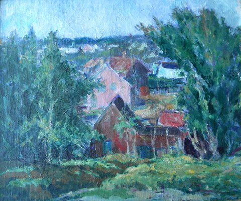 22: Donald  Witherstine, Provincetown Landscape, oil on