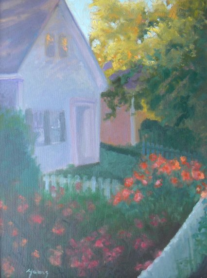 24: Laurence  Young, Garden Refuge, oil on canvas