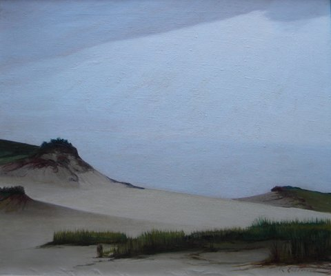 34: Raymond Eastwood, Dunes, 1946, oil, Provincetown