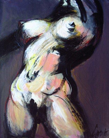 86: Painting, Canadian, Joann  Corno, oil, Female Nude