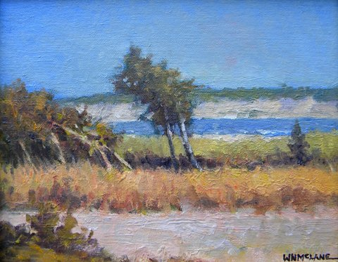 119: Painting, oil, Landscape, William N. McLane