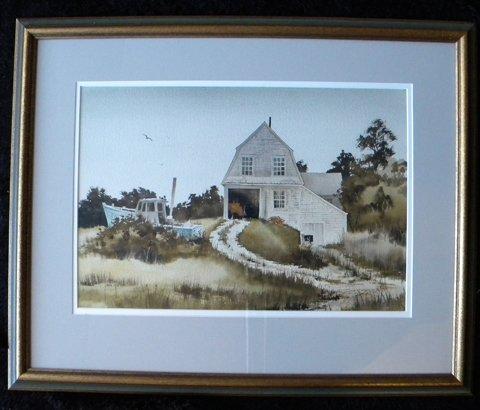 127: Painting, watercolor, Jack Garver, Hardy's Reach - 2
