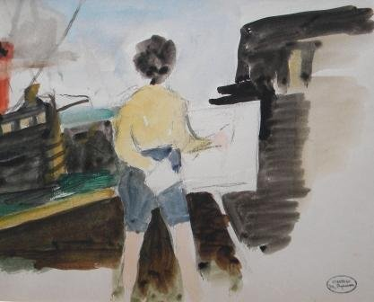1: watercolor, Margery A. Ryerson, Provincetown art