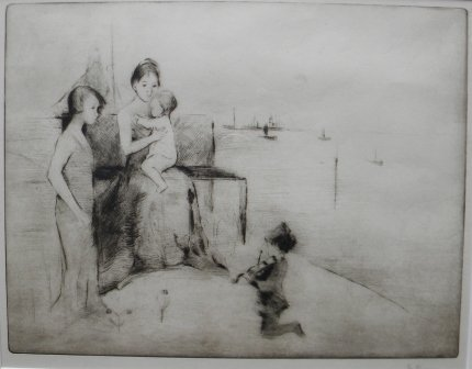 2: etching, Margery A. Ryerson, Children, Provincetown
